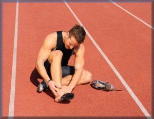 sports injury on running track